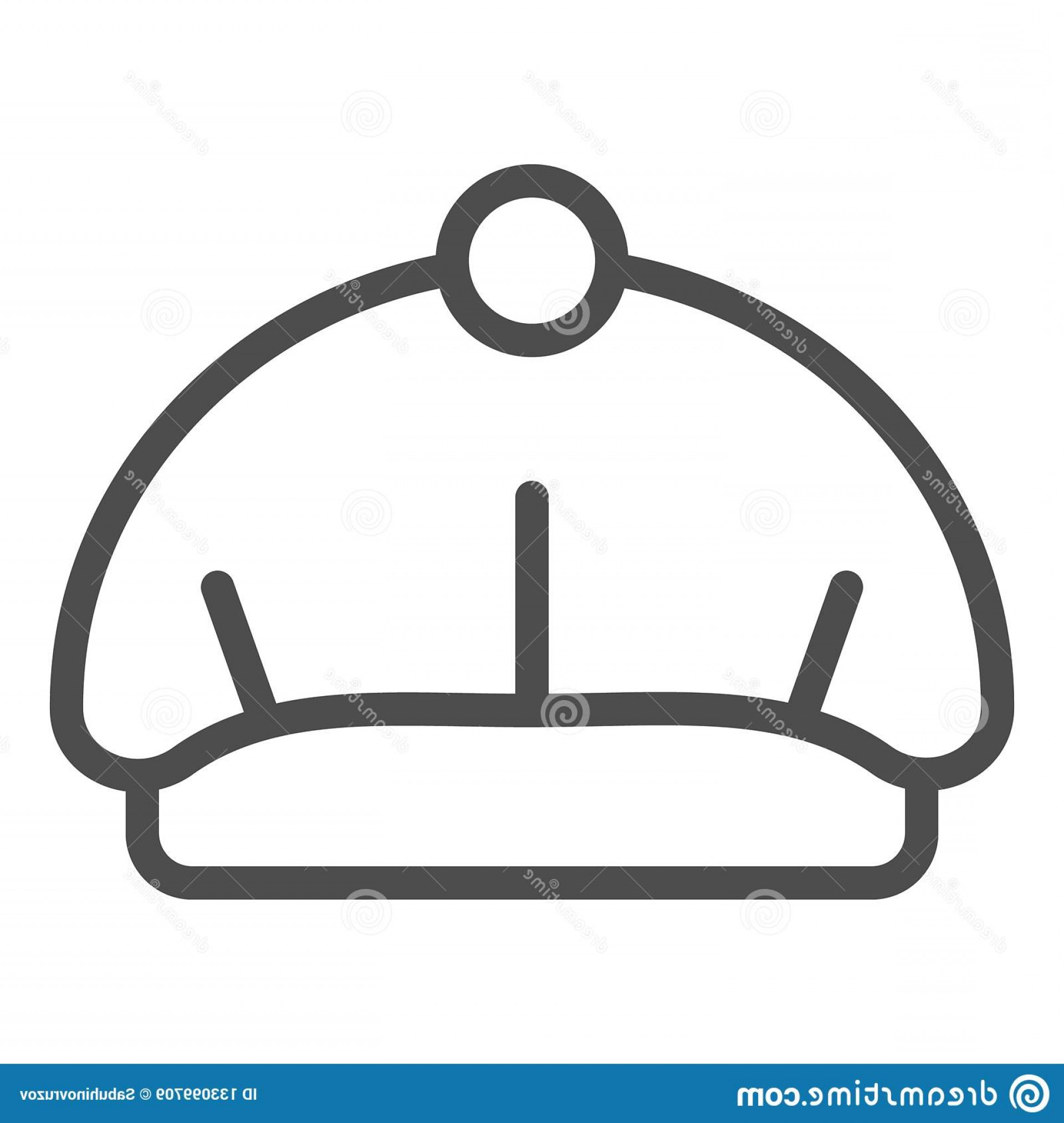 Beret Hat Vector: Beret Line Icon Hat Vector Illustration Isolated White Cap Outline Style Design Designed Web App Eps Beret Line Icon Image