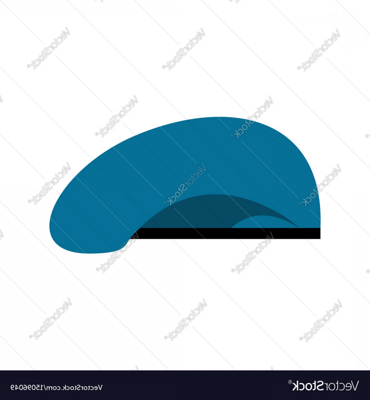 Beret Hat Vector: Beret Military Blue Soldiers Cap Army Hat War Vector