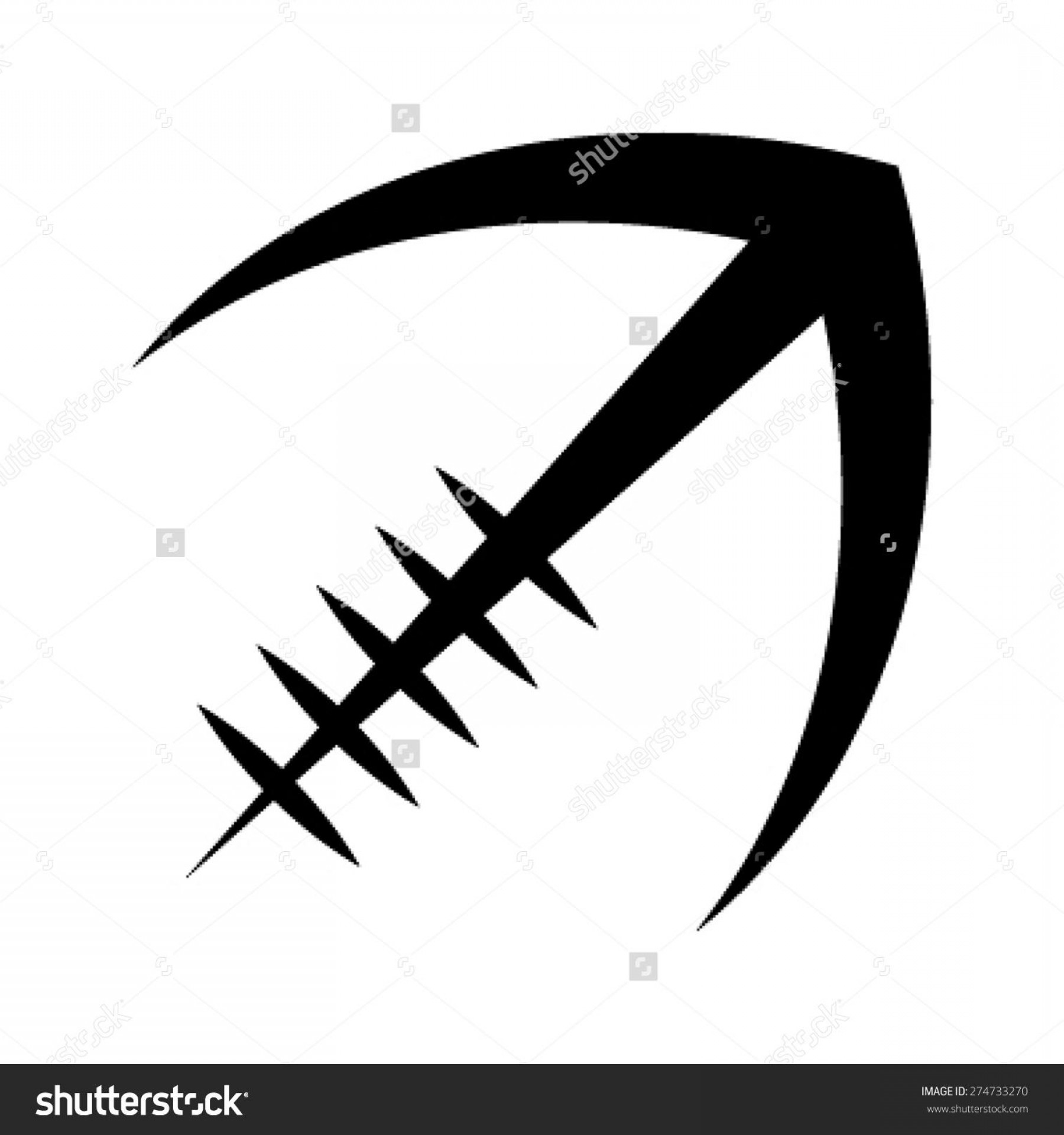 Black And White Vector American Football: Best American Football Laces Vector Drawing