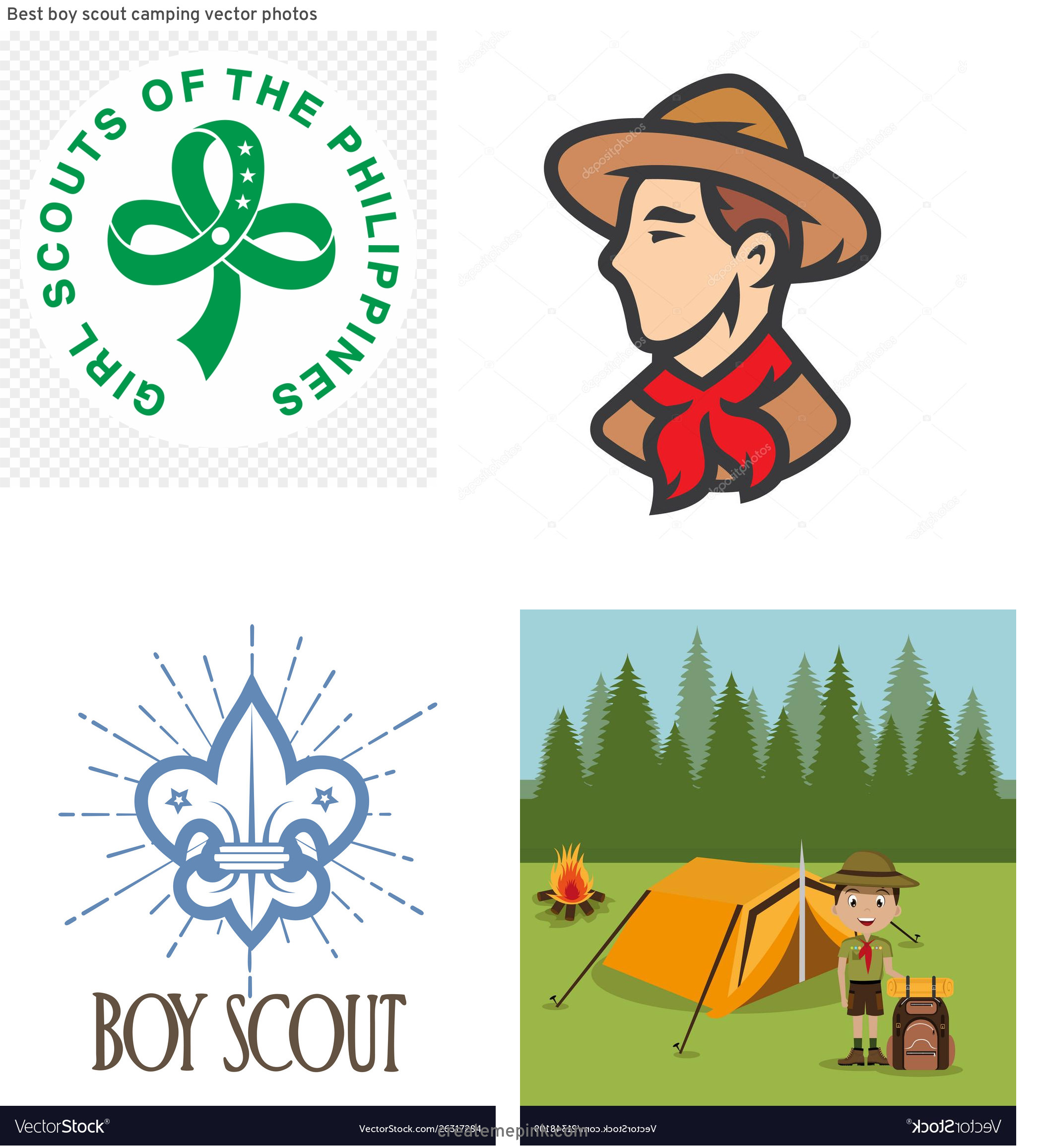 Boy Scout Logo Vector Art: Best Boy Scout Camping Vector Photos