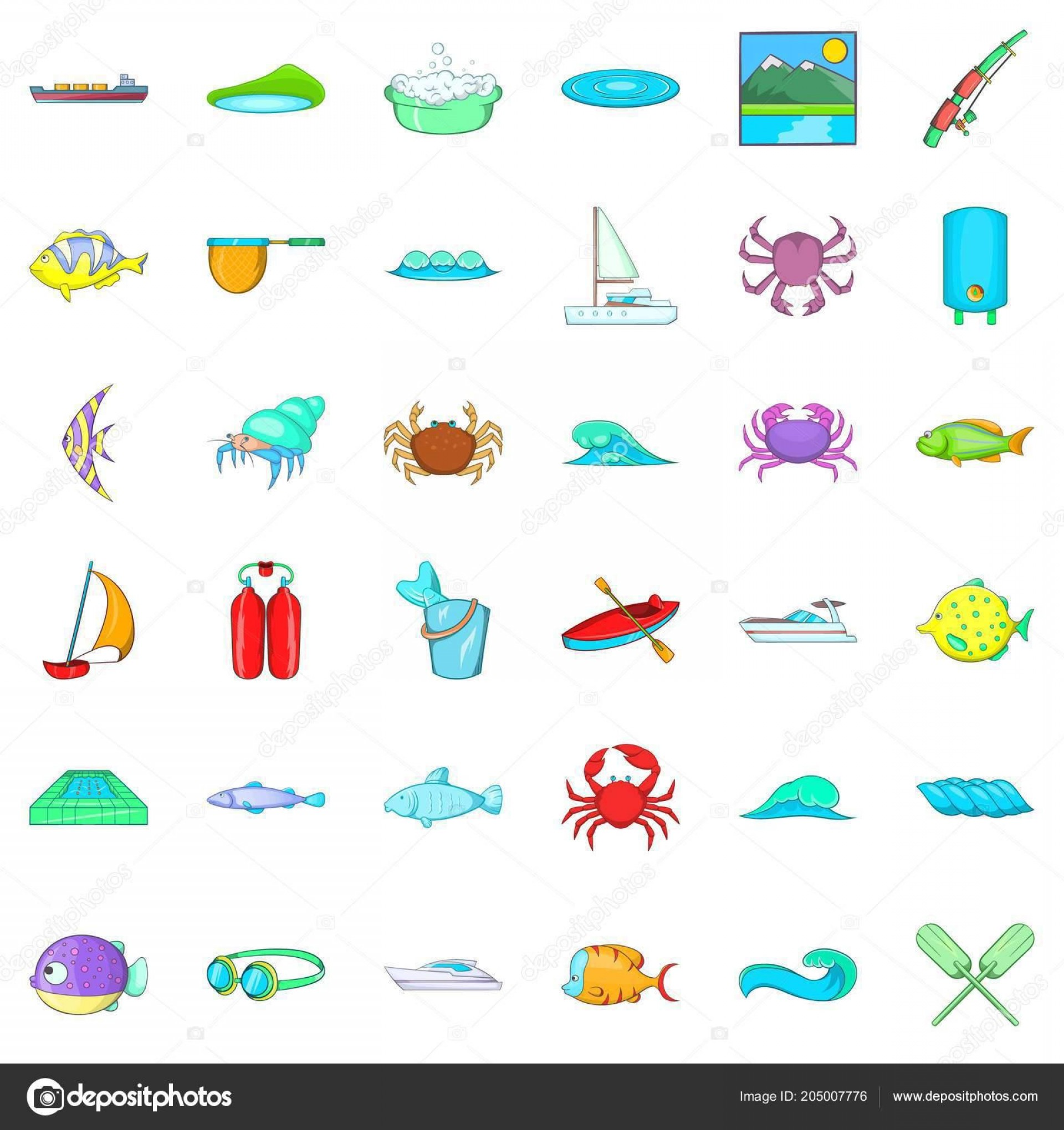 Ocean Water Clip Art Vector: Best Cartoon Ocean Water Vector Design