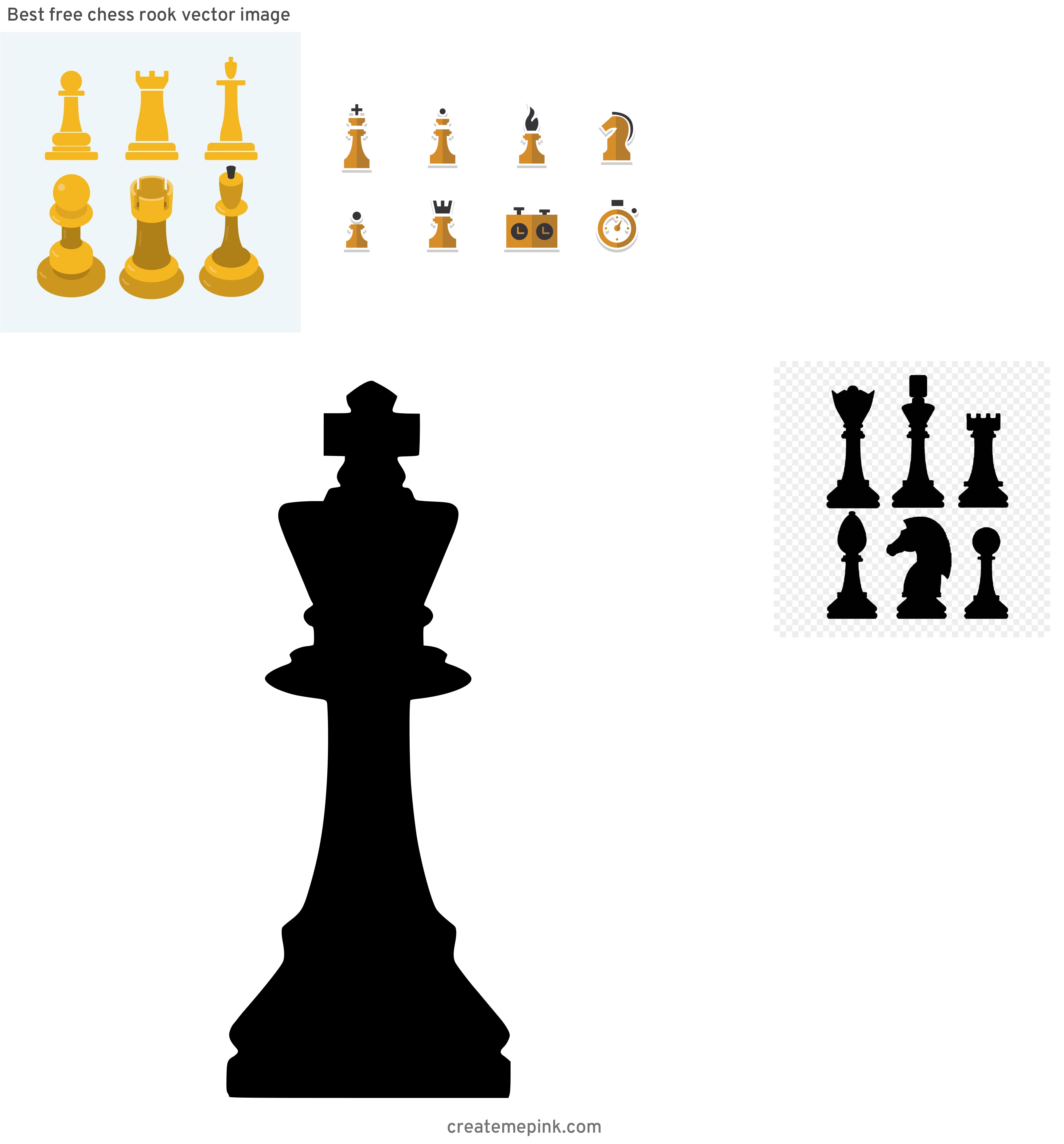 Chess Vector Graphic: Best Free Chess Rook Vector Image