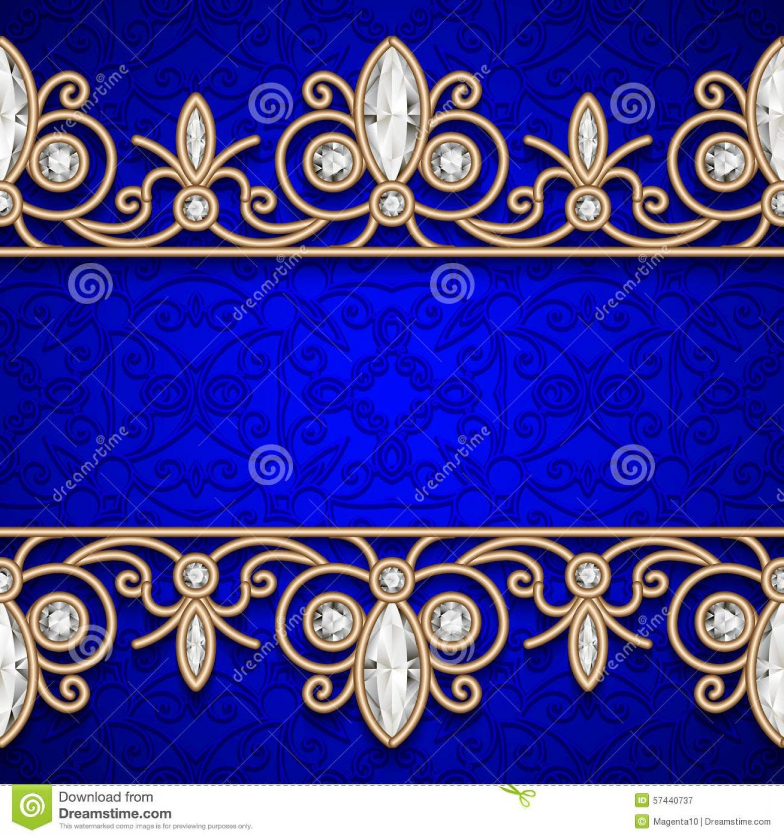 Blue And Gold Border Vector: Best Free Gold Border Frame Black Vintage Background Jewelry Seamless Borders Photos