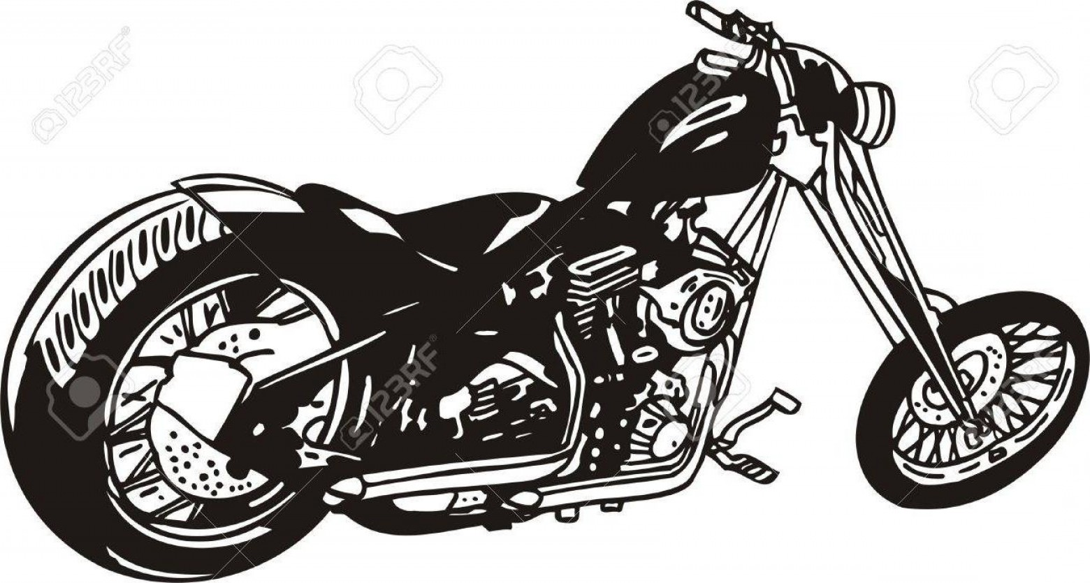 Harley-Davidson Flame Vector Silhouette: Best Free Harley Davidson Vector Library