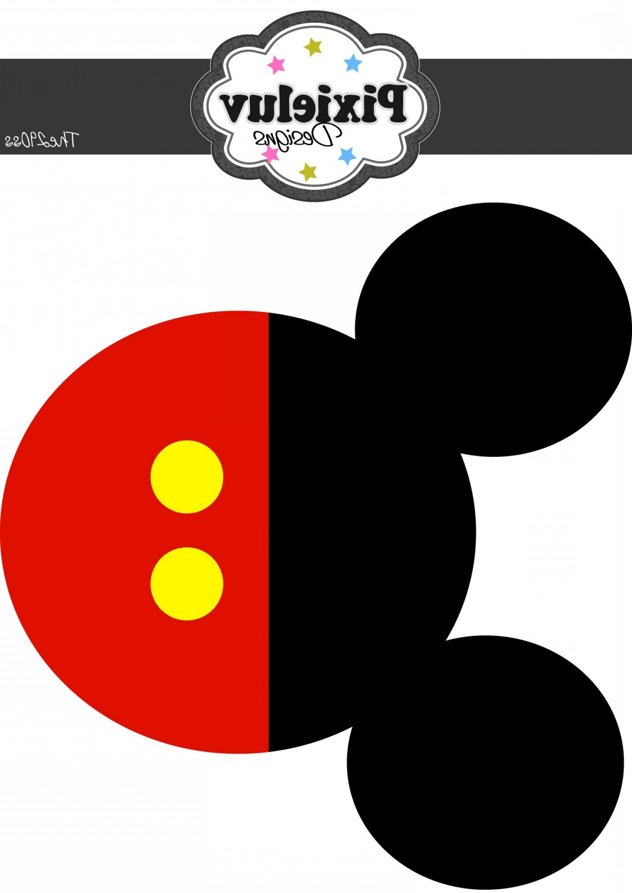 Minnie Mouse Head Vector: Best Free Mickey Mouse Head Template Garland Larger Size Outline Vector Ears In Pictures