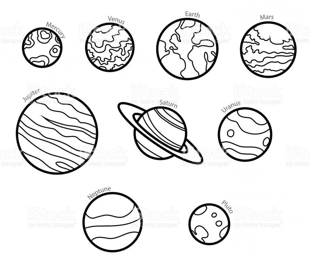 Planets Vector Graphics: Best Free Planet Clip Art Black And White Vector Images
