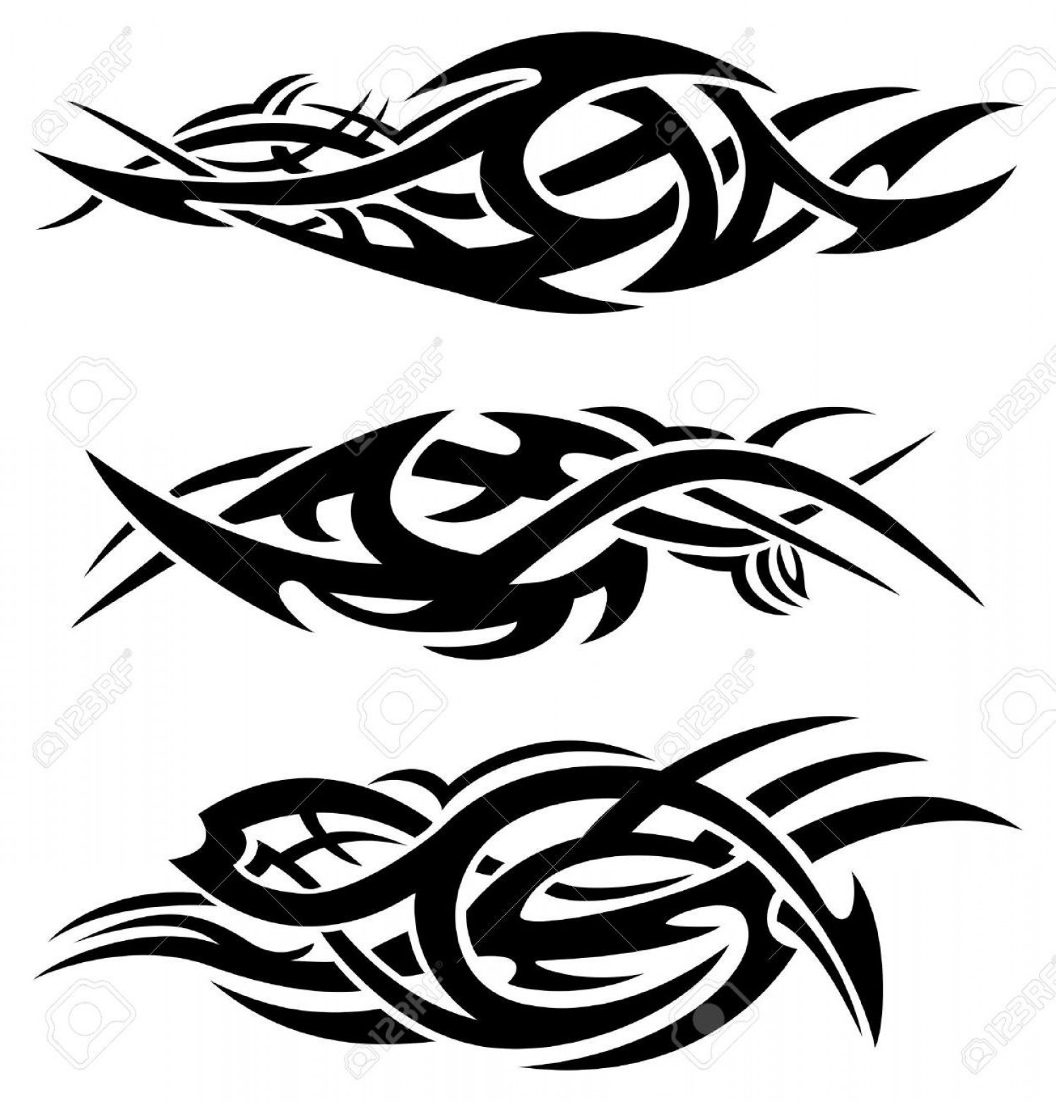 Tribal Flames Vector Car: Best Free Tribal Flame Designs Vector Image