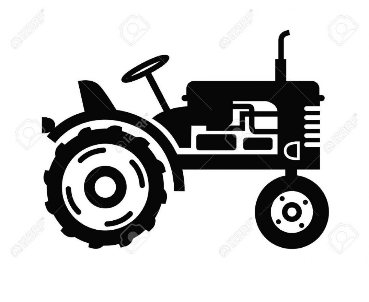 Free Tractor Vector: Best Free Vector Black Tractor Icon On White Background Design