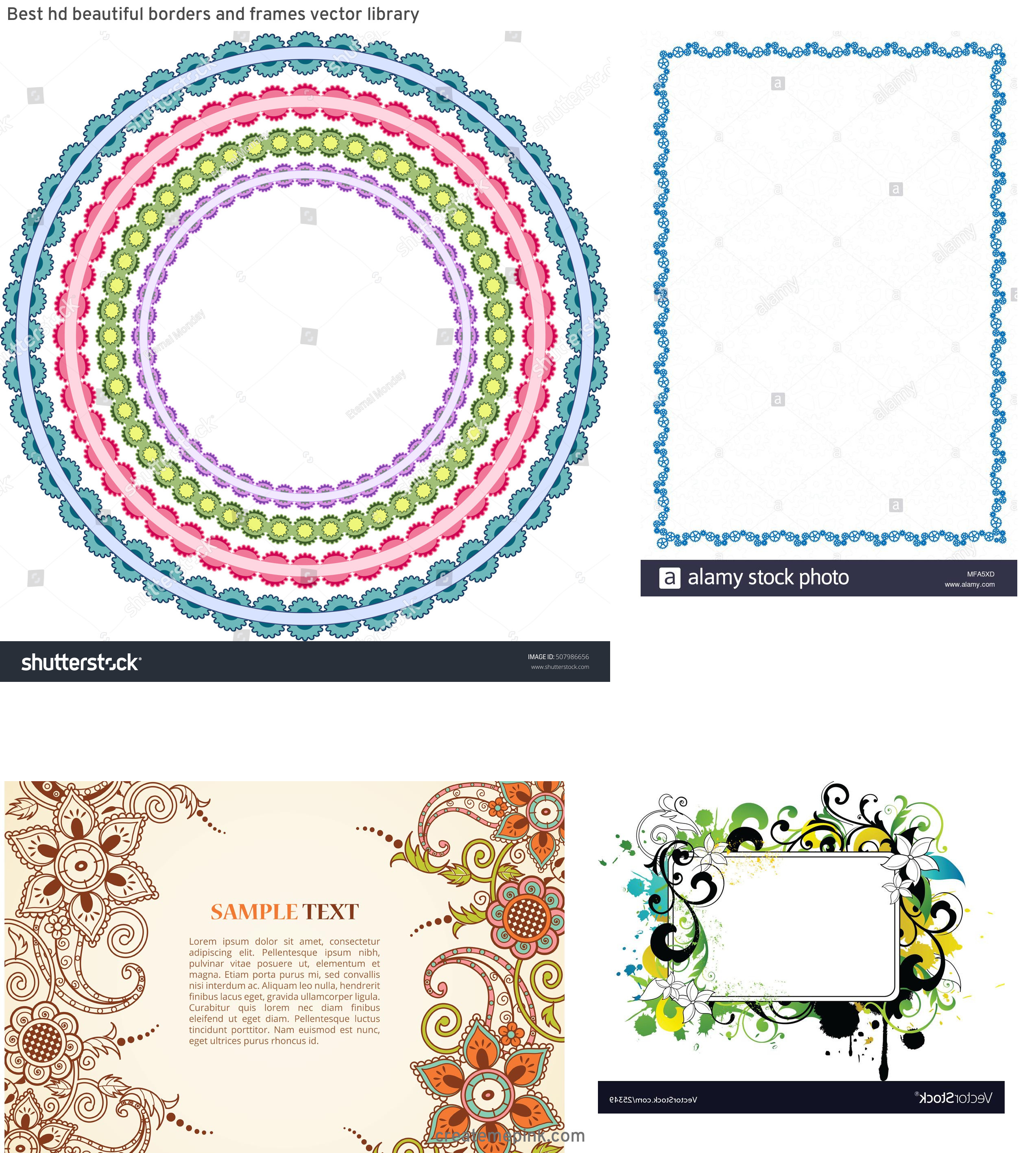 Simple Lace Frame Vector: Best Hd Beautiful Borders And Frames Vector Library
