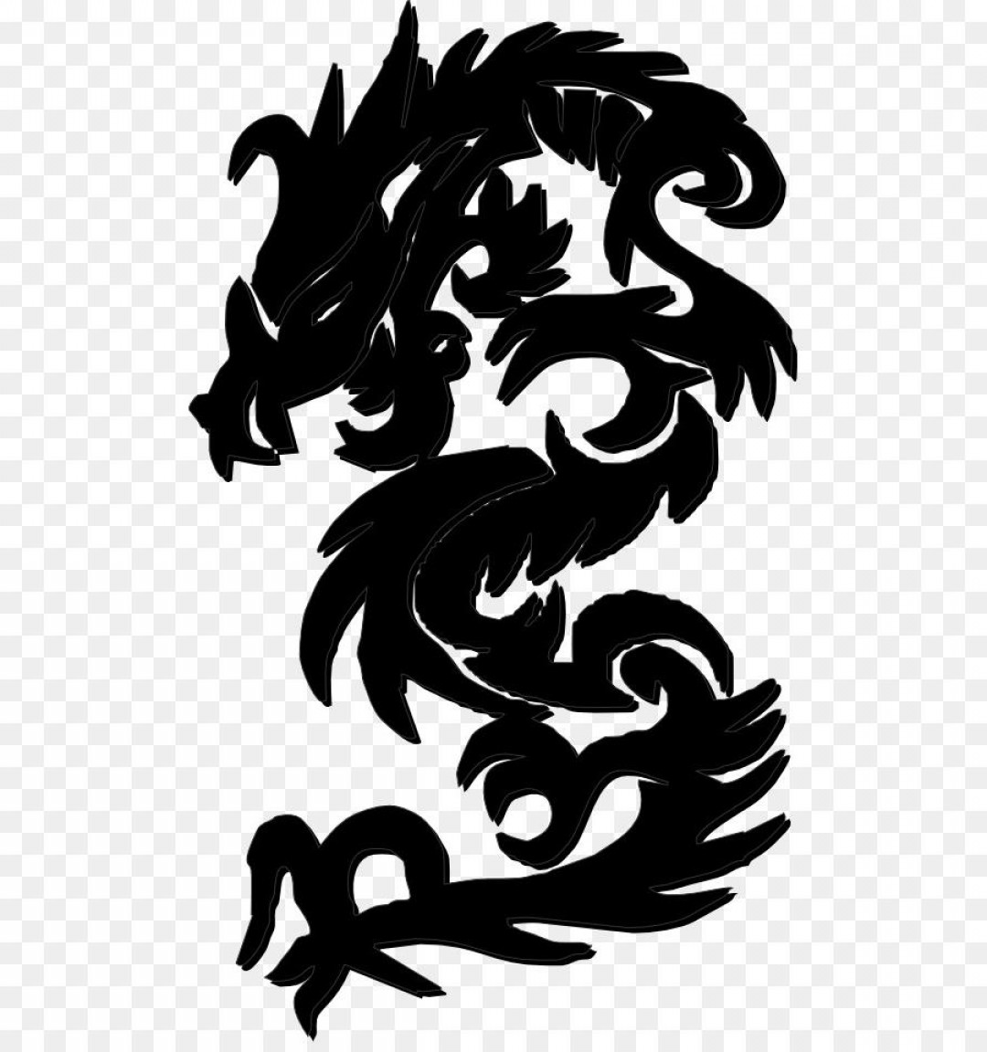 Black And White Vector Racing Graphics: Best Hd Chinese Dragon Clip Art Black And White Vector Images
