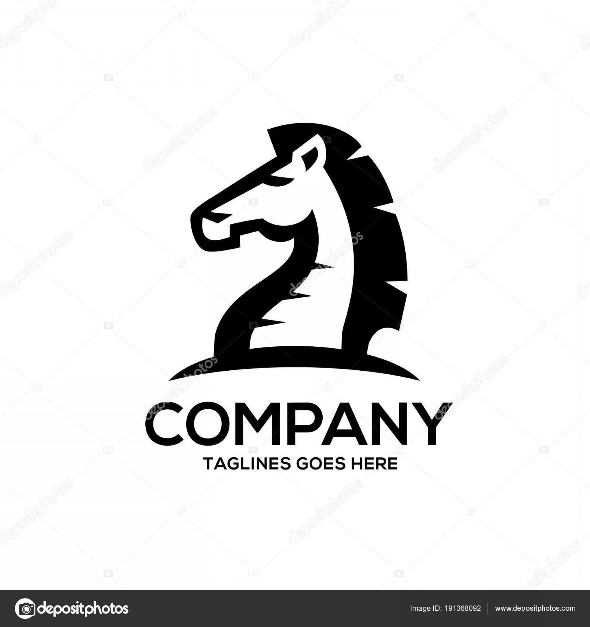 Chess Knight Logo Vector: Best Hd Stock Illustration Chess Knight Vector Logo Flat Pictures
