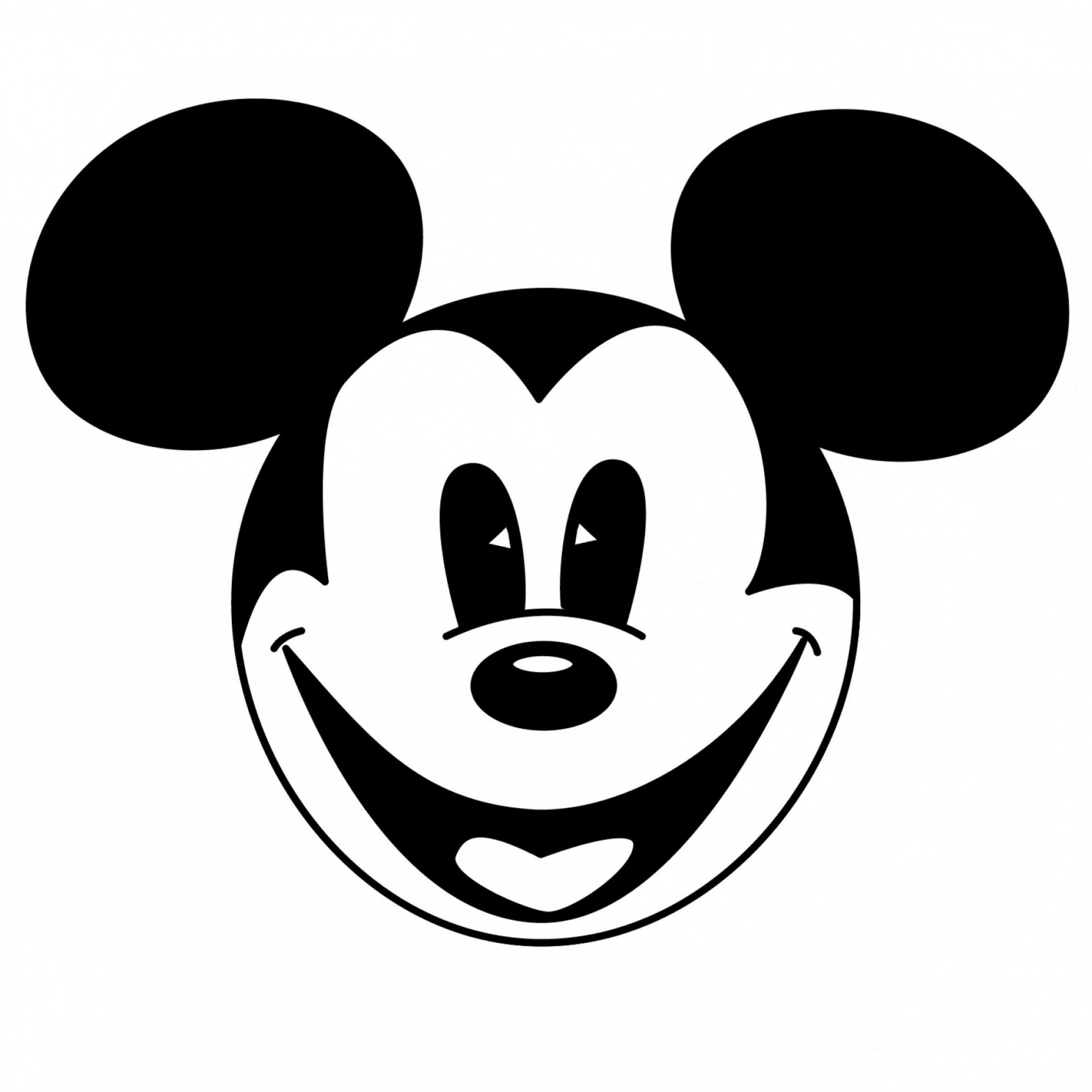 Vector Mickey Mouse Christmas: Best Mickey Mouse Head Coloring Pages