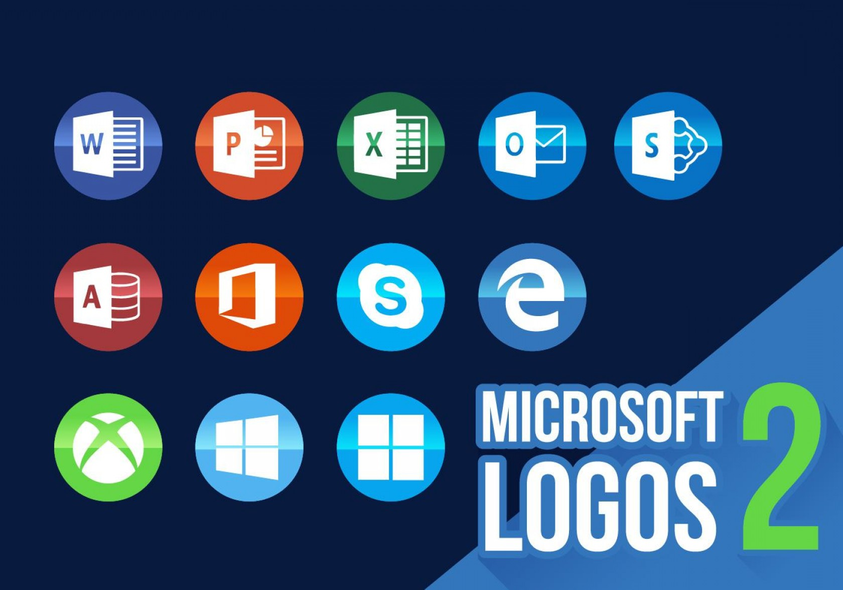 New Microsoft Logo Vector: Best Microsoft Icons New Logos Vector Images