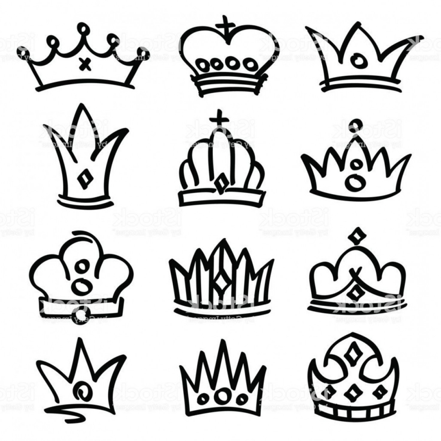 Princess Crown Vector Graphic: Best Princess Crown Drawing Vector Drawing