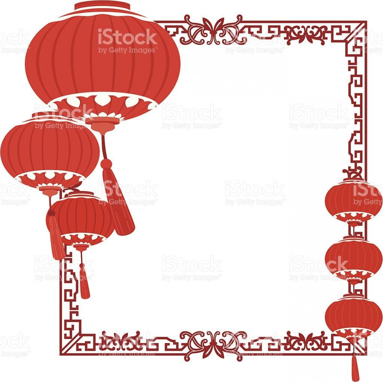 Vector Battery Replacement Lanterns: Best Red Chinese Lanterns Border Style Vector File Free