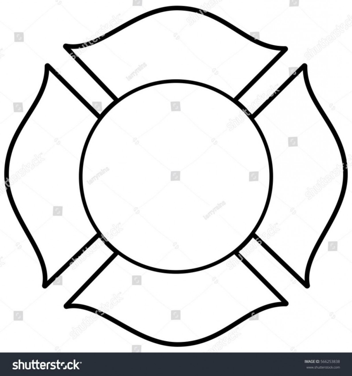 Fire Maltese Vector: Best Stock Vector Firefighter Maltese Cross Illustration Pictures