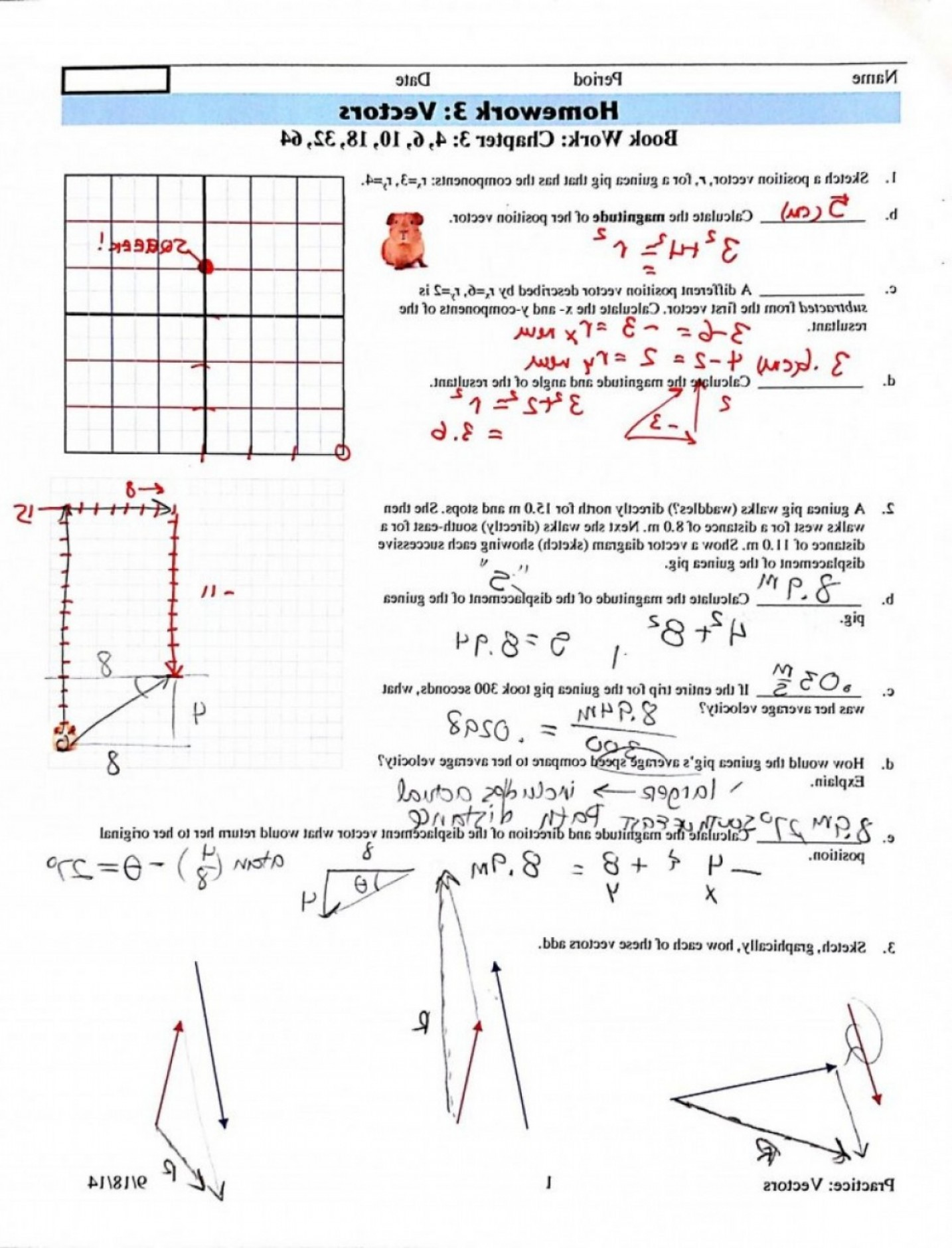 Vector Addition By Pythagoras Picture: Best Top Vector Addition Worksheet With Answers Image Library Graphical Meth