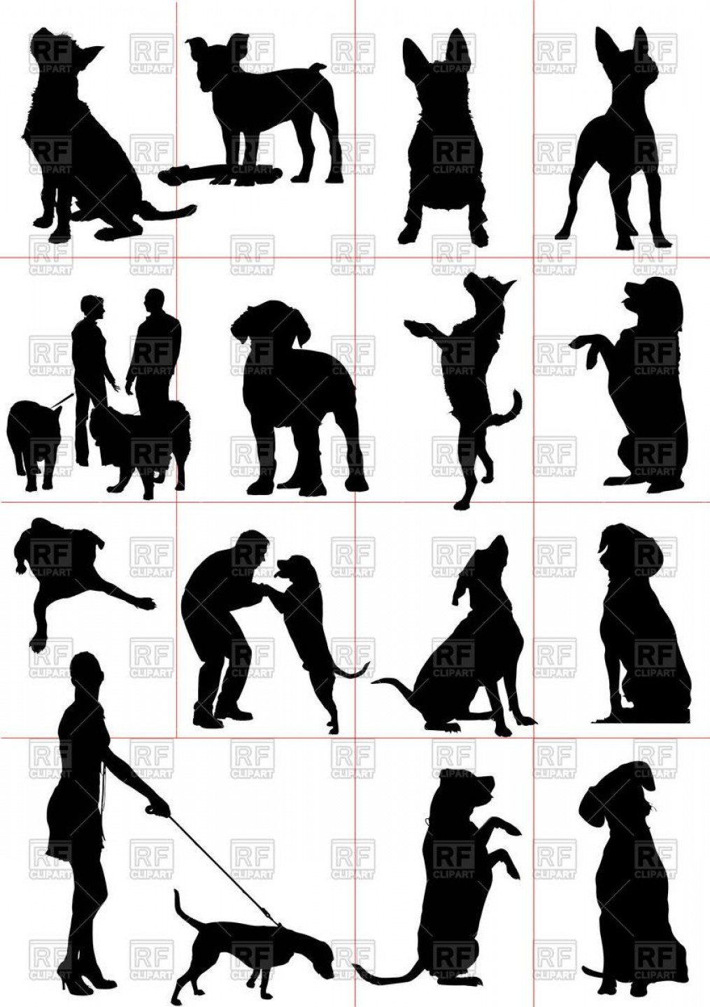 Vector Silhouette Dog Walk: Best Walking Of Dog Silhouettes Download Royalty Free Vector File Eps Photos