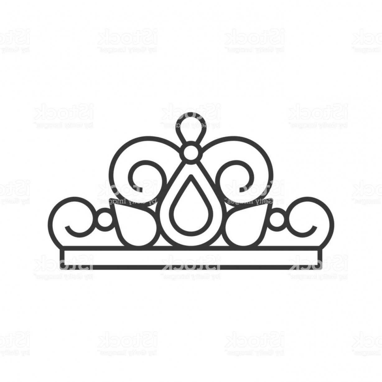 Pageant Tiaras Vector: Beuauty Pageant Or Princess Crown Outline Icon Gm