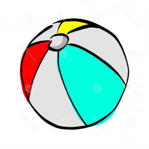 Beach Ball Vector Art: Beach Ball Vector Illustration Sketch Hand Drawn Black Line Beach Ball Vector Illustration Sketch Hand Drawn Black Lines Image