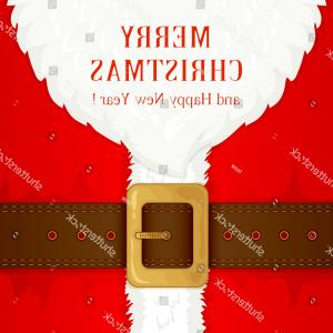 Vector Santa Belt: Stock Illustration Santas Coat And Belt