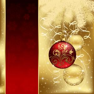 Gold Christmas Ball Vector Free: Beautiful Christmas Ball Background Vector