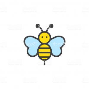 Bee Stinger Back Vector Art: An Adorable Bee Showing Its Stinger Tail