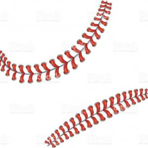 Laces Basball Vector: Stock Illustration Baseball Stitches Vector Lace From