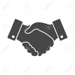 Handshake Vector Art: Best Black Handshake Vector Icon Design For Business And Finance Concept Images