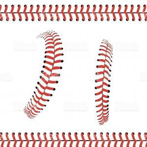 Laces Basball Vector: Photostock Vector Red Laces In Different Styles From A Baseball Set Vector Illustration On White Background