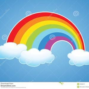 Rainbow Clip Art Vector: Best Hd Rainbow With Clouds Clip Art Vector Pictures