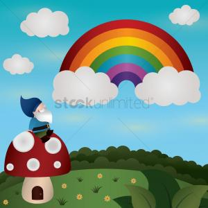Vector Bros: Best Rainbow Mushroom Cloud Vector Photos