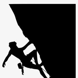 Climbing Silhouette Vector Art: Stock Photo Children Rock Climber Sport Athletes Climbing Wall In Abstract Silhouettes