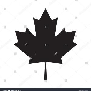 Maple Leaf Silhouette Vector: Autumn Maple Leaves Vector Clipart