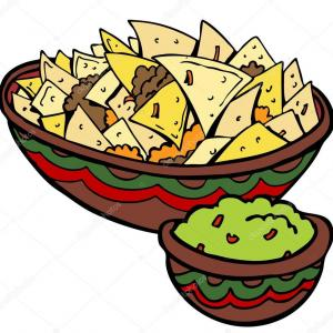 Chips Queso Vector: Nacho Corn Chip Icons With Toppings Gm
