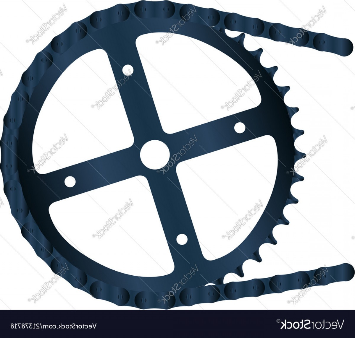 Bicycle Crank Vector Of Artwork: Bicycle Gear And Chain Vector