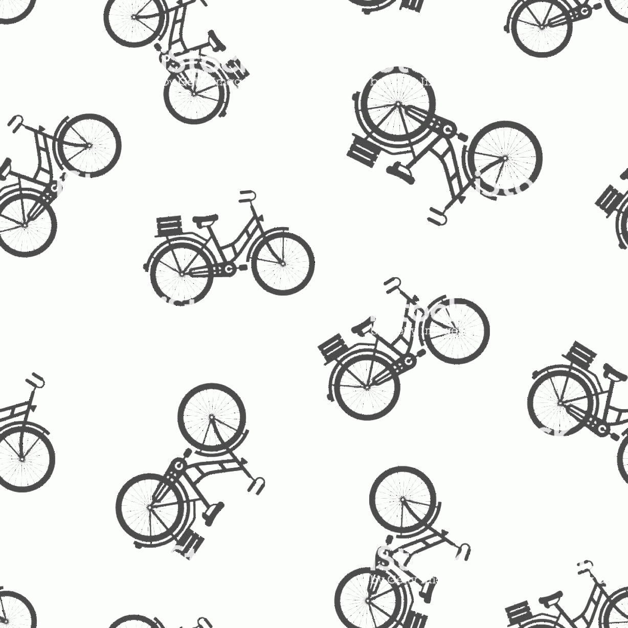 Bicycle Vector Artwork Of Patterns: Bicycle Sign Icon Seamless Pattern Background Bike Vector Illustration On White Gm