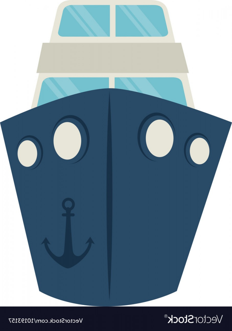 Boat Vector Art Graphics: Big Ship Cruise Icon Graphic Vector