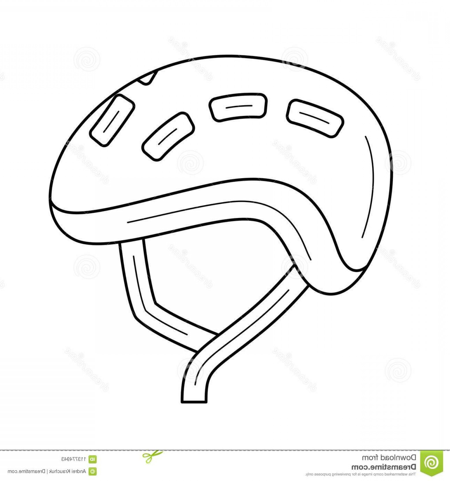 Motorcycle Helmet Vector Art: Bike Helmet Vector Line Icon Isolated White Background Bike Helmet Line Icon Infographic Website App Icon Designed Image