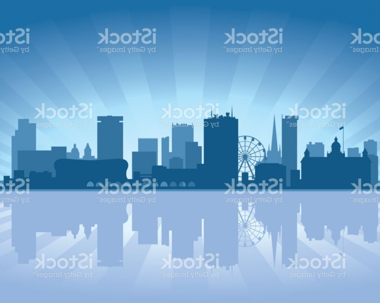 UK Skyline Vector: Birmingham Uk City Skyline Silhouette Gm