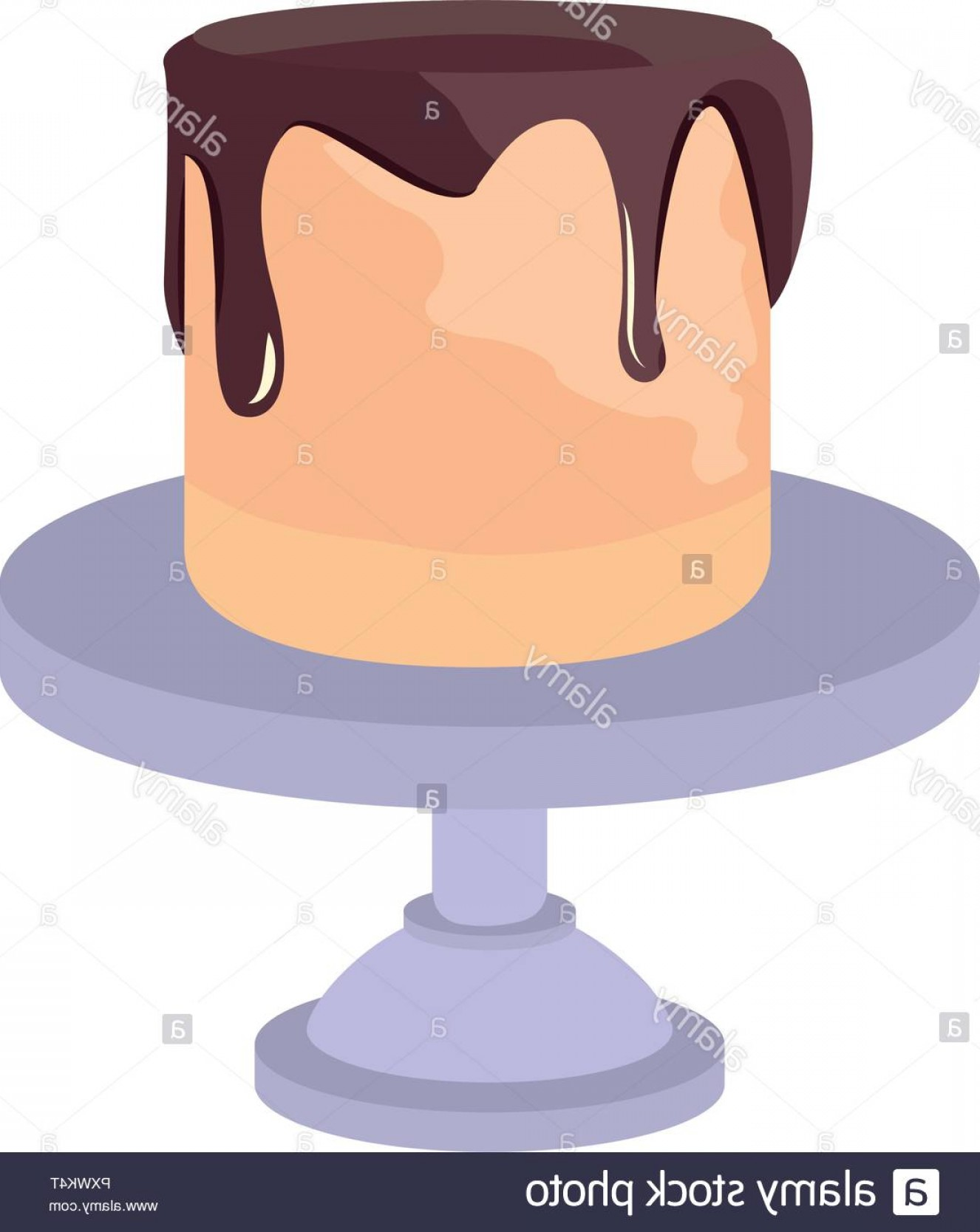 Cake Stand Vector: Birthday Cake Stand On White Background Vector Illustration Image