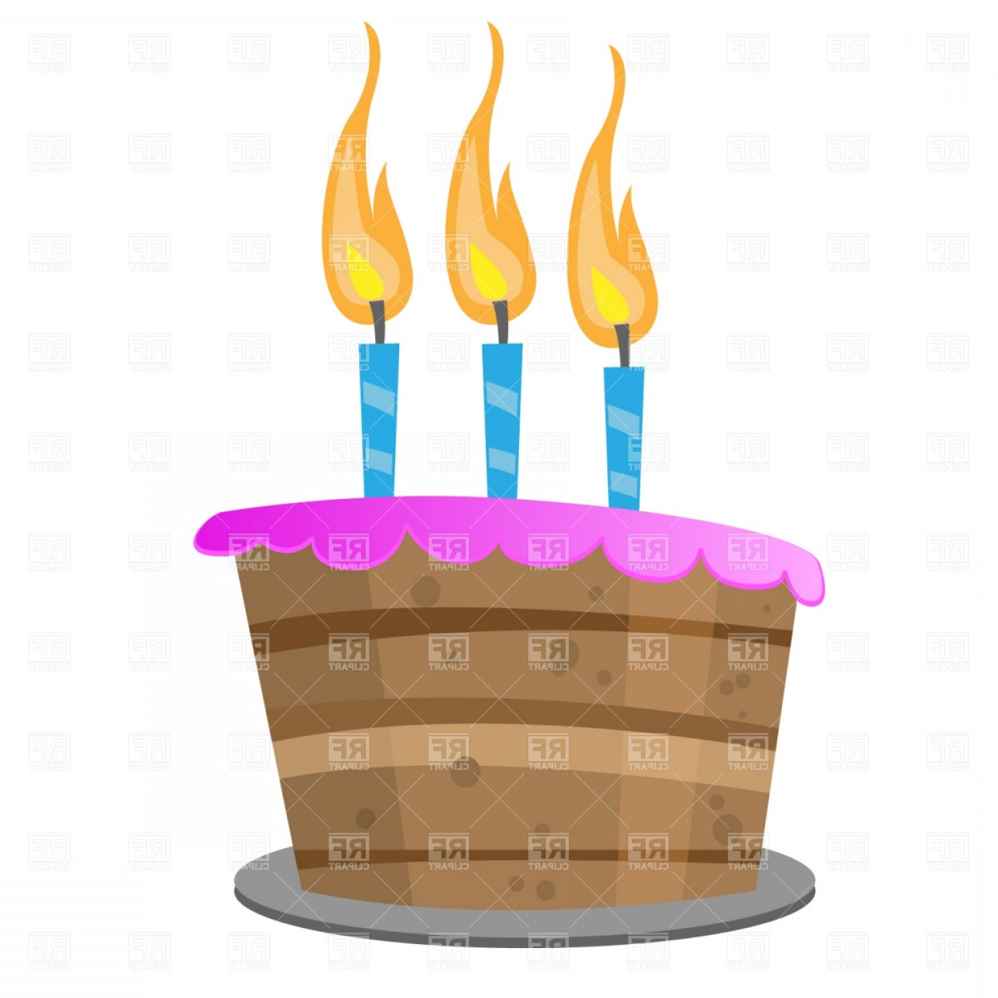 Birthday Candle Vector Art: Birthday Cake With Candles Vector Clipart