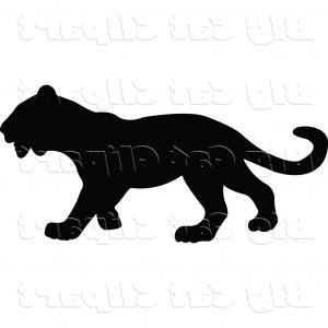 Panther Vector: Angry Black Panther Head Vector