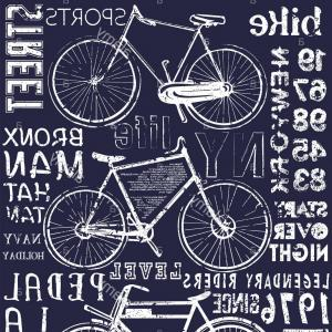 Bicycle Crank Vector Of Artwork: Bike Poster Tee Graphic Design Image