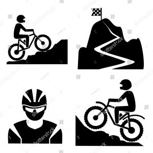 Mountain Bike Tire Vector Clip Art: Bike Trail Labels Vector