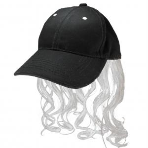 Hilbilly Tattood Vector Character: Billy Ray Mullet Hat Gray Platinum Wig Cap Red Neck Mens Hillbilly Halloween Costume