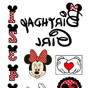 Minnie Mouse Party Hat Vector: Birthday Svg Minnie Mouse Svg Disney Svg