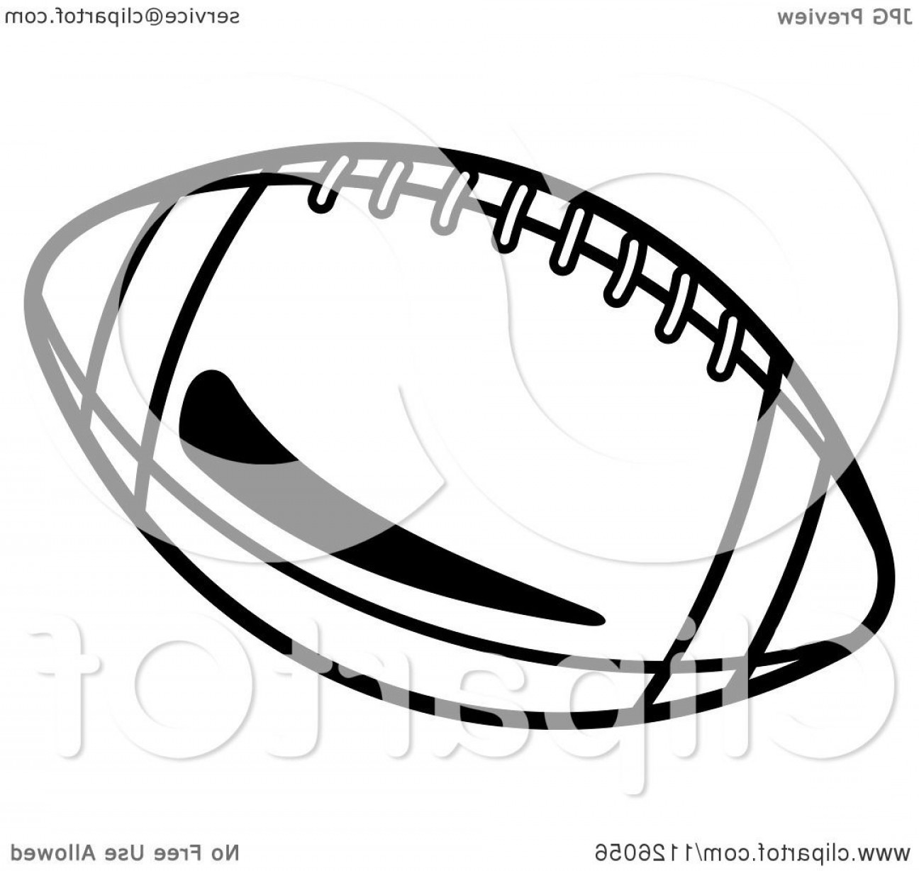 Black And White Vector American Football: Black And White American Football