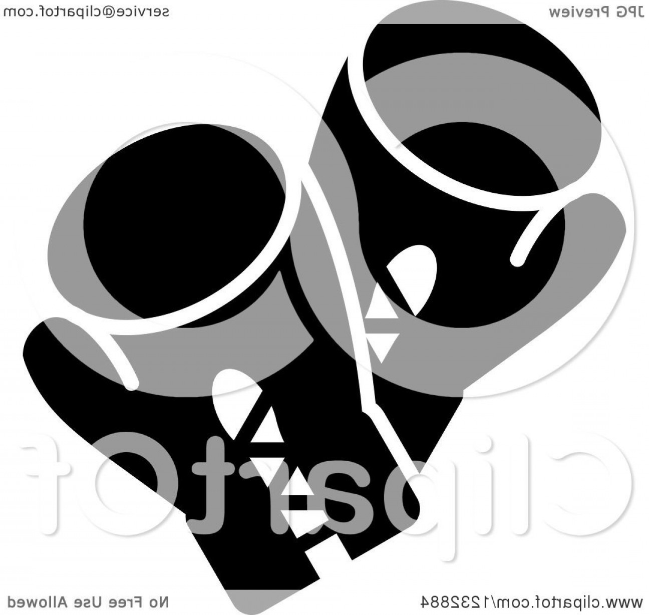 White Glove Service Vector: Black And White Boxing Gloves Sports Icon