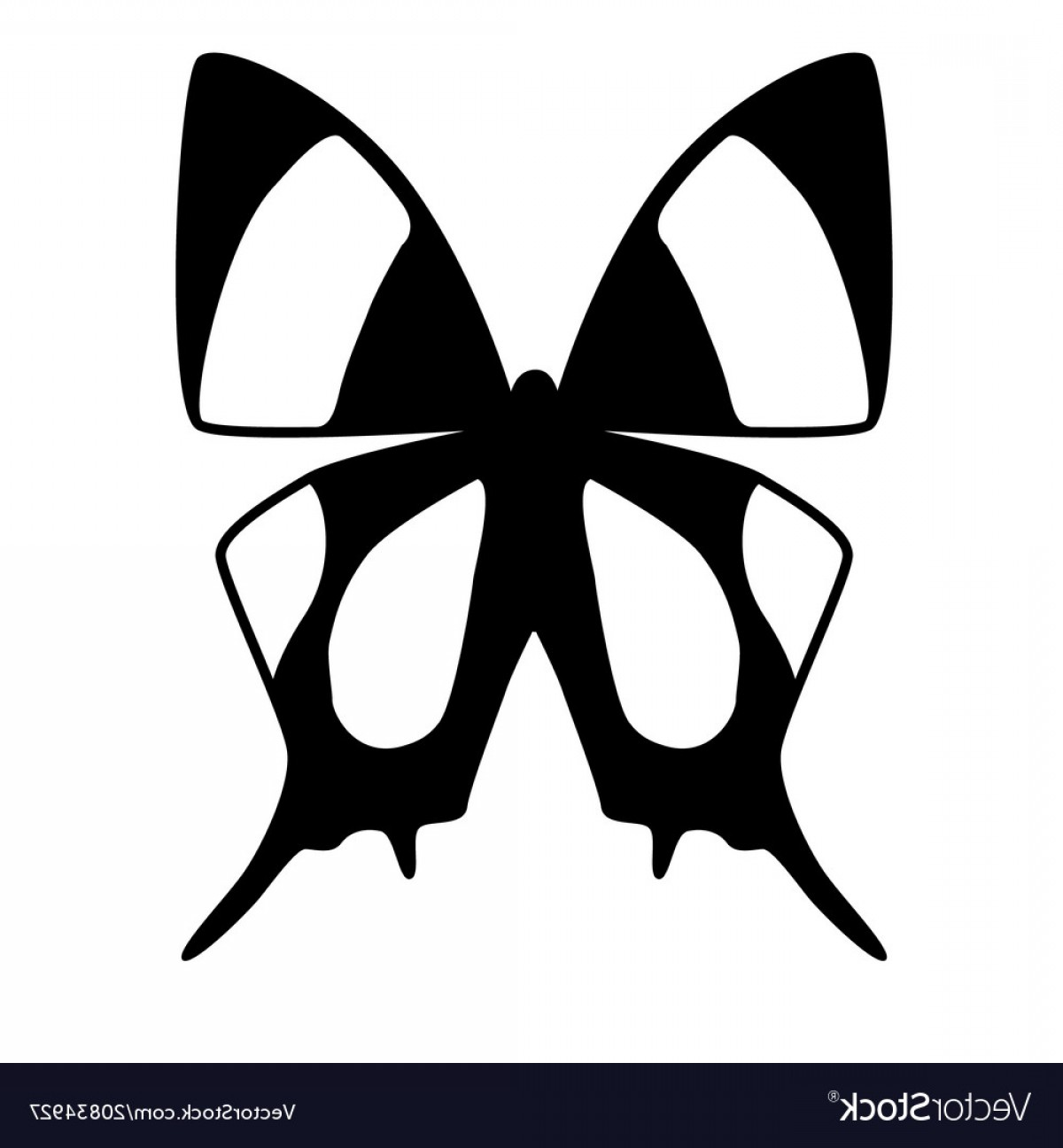 Vector Butterfly Clip Art: Black And White Butterfly Vector